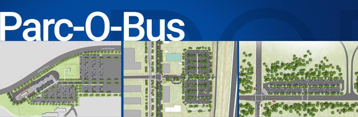 Vue d'ensemble des trois futurs Parc-O-Bus